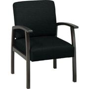 Office Star™ Custom Espresso Finish Wood Guest Chair, Jet
