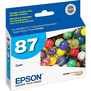 Epson 87, Cyan Ink Cartridge (T087220)