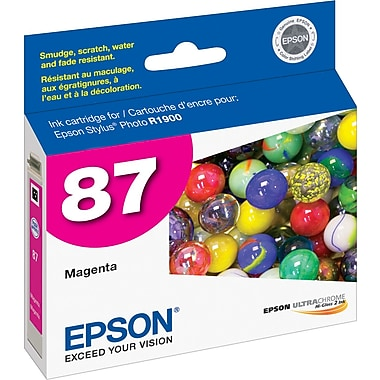 Epson® 87 (T087320) Ink Cartridge, Magenta