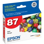 Epson® 87 (T087720) Ink Cartridge, Red