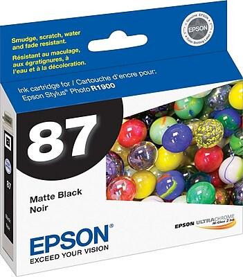 Epson 87 Matte Black Ink Cartridge (T087820)