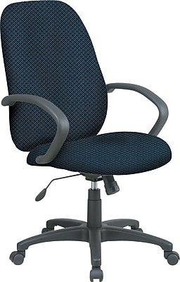Office Star™ Fabric Executive Office Chair, Blue Galaxy, Fixed Arm (EX2654-296)