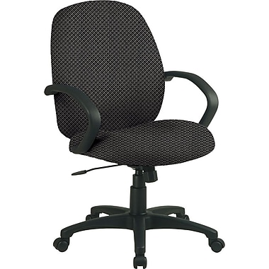 Office Star™ Fabric Conference Office Chair, Shale, Fixed Arm (EX2651-295)