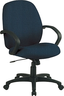 Office Star™ Fabric Conference Office Chair, Blue Galaxy, Fixed Arm (EX2651-296)
