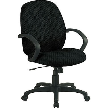 Office Star™ Fabric Conference Office Chair, Jet, Fixed Arm (EX2651-297)