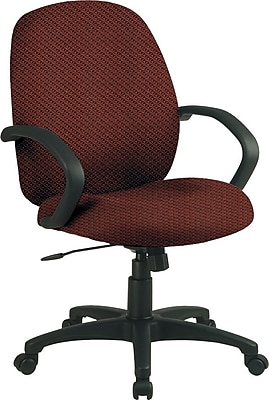 Office Star™ Fabric Conference Office Chair, Wine, Fixed Arm (EX2651-298)