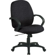 Office Star™ Fabric Conference Office Chair, Graphite, Fixed Arm (EX2651-320)