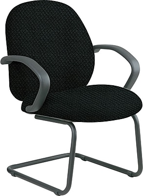 Office Star Custom Fabric Guest Chair, Jet