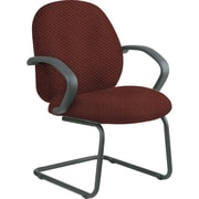 Office Star™ Custom Fabric Guest Chair, Wine