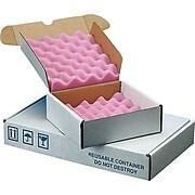 "Staples 8"" x 8"" x 2.75"" Anti-Static Foam Shippers, White, 24/Carton (188-00A)"