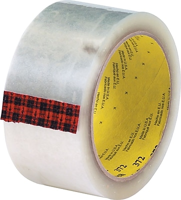 3M #372 Hot Melt Packing Tape, 2