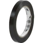 "3M™ 860 Tensilized Poly Strapping Tape, 1/2"" x 60 yds., Black, 144/Case"