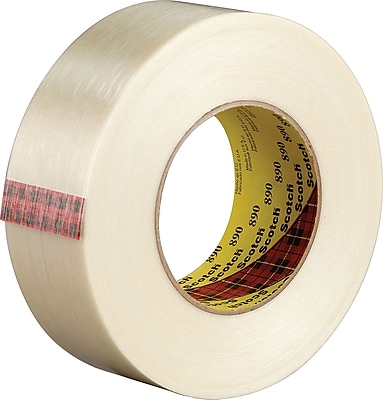 Scotch® #890 Filament Tape, Clear, 2