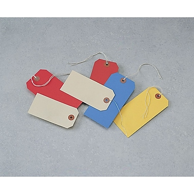 Shipping and Merchandise Tags with Twistable Wire, 3-3/4