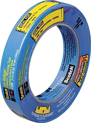 Scotch® Safe Release™ Weatherable Masking Tape, 3/4