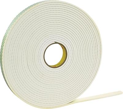 """Scotch® #4462 Double Sided Polyethylene Foam Tape, 1""""x36 yds., 1/16"""", 9/Case"""