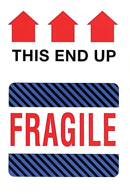 Staples This Side Up Fragile Label 4