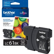 Brother Genuine LC61BK Black Original Ink Cartridge