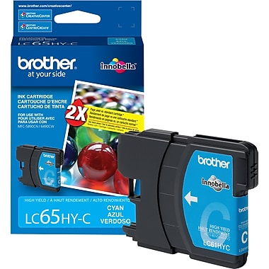 Brother LC65 Cyan Ink Cartridge, High Yield (LC65HYCYS)