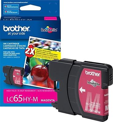 Brother Genuine LC65HYM Magenta High Yield Original Ink Cartridge