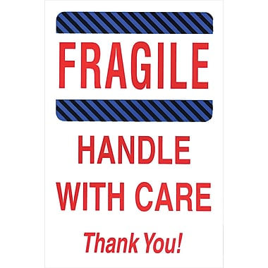 Staples Fragile, Handle with Care, Thank You! Label, 04