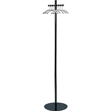Safco® Nail-Head Coat Tree with Hangers, Black
