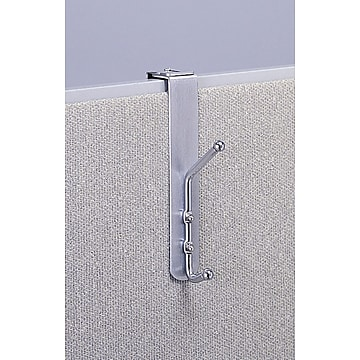 Safco 4167 Over-the-Panel Coat Hook, Silver, 12/pack (4167)