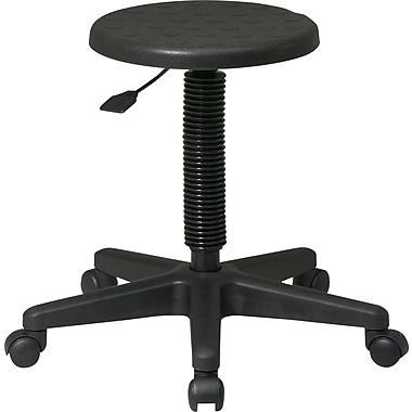Office Star™ Intermediate Backless Stool. Black