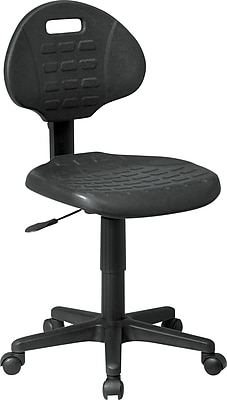 Office Star Plastic Computer and Desk Office Chair, Armless, Black (KH520)