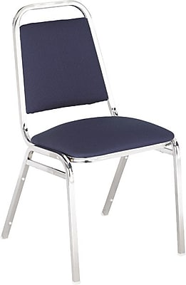 Alera® Continental Acrylic Square-Back Stacking Chairs, Blue, 4/Pack