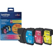 Brother LC65 Colour Ink Cartridges, High Yield, Combo Pack (LC653PKS)