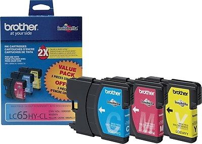 Brother Genuine LC653PKS Cyan, Magenta, Yellow High Yield Original Ink Cartridges Multi-pack (3 cart per pack)