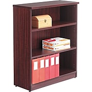 Alera® Valencia Series Bookcase Storage System, 3-Shelf, Mahogany