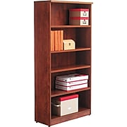 Alera® Valencia Series Bookcase Storage System, 5-Shelf, Medium Cherry