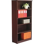 Alera® Valencia Series Bookcase Storage System, 5-Shelf, Mahogany