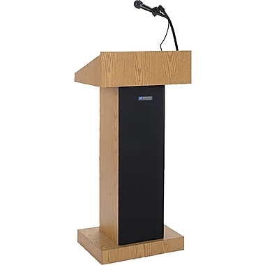 AmpliVox Sound Systems Executive Adjustable Height Lectern, Walnut (SW505A-WT)