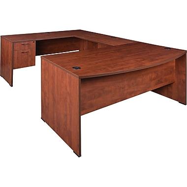 Regency Sandia Complete Office Solution, Bow Front U-Desk, Cherry