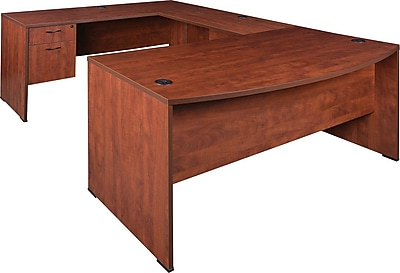 Regency® Sandia Office Collection in Cherry Finish, U-Shape Desk