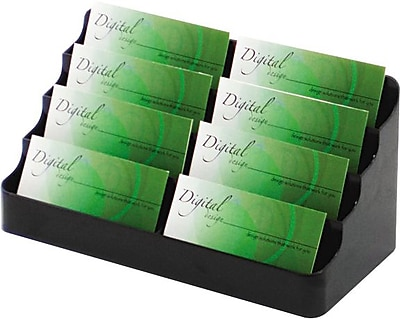 Deflecto 8-Pocket Black Business Card Holder 732911