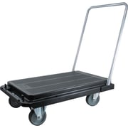 "Deflecto Heavy-Duty Platform Cart, 500 lbs. Capacity, Black, 9""H x 20 9/10""W x 32 5/8""D"