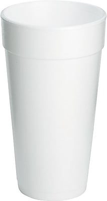 Dart® Styrofoam Hot & Cold Cups, 20 Oz., White, 500/Ct
