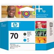 HP – Tête d'impression cyan et noir mat 70 (C9404A)