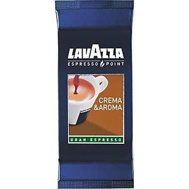 Lavazza® Espresso Point Cartridges, Crema Aroma Arabica/Robusta Espresso, Regular, .25 oz, 100 Cartridges
