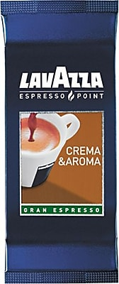 Lavazza® Espresso Point Cartridges, Crema Aroma Arabica/Robusta Espresso, Regular, .25 oz, 100 Cartridges