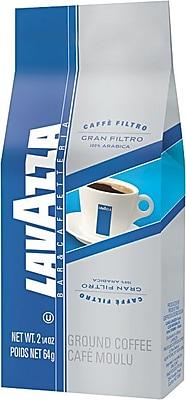 Lavazza® Gran Filtro Italian Light Roast Ground Coffee, Arabica Blend, Regular, 2.25 oz., 30 Packets