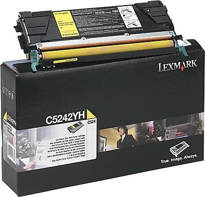 Lexmark Yellow Toner Cartridge (C5242YH), High Yield