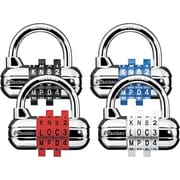 Master Lock® Password PlusCombination Lock, Chrome-Look Lock Body with Assorted Color Wheels, Each (1534D)