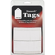 Monarch Hang Tags, White, 1000/Pack