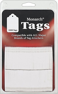 Monarch® Hang Tags, White, 1000/Pack