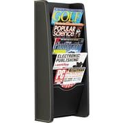 Safco Five-Pocket PVC Magazine Display Rack, Black